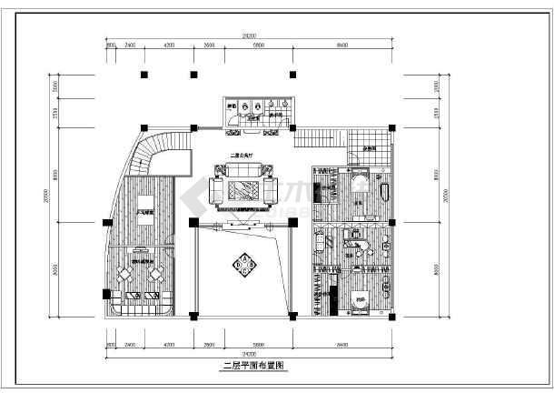 某精美别墅装修建筑设计CAD图纸-图3