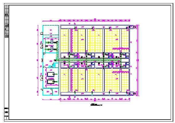 某地污水厂V型滤池设计图纸-图1