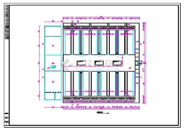 某地污水厂V型滤池设计图纸-图3