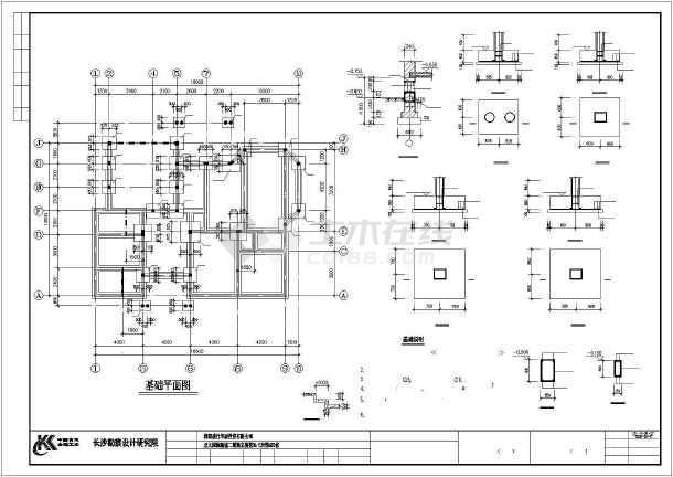 独特风格别墅建筑结构图纸-图2