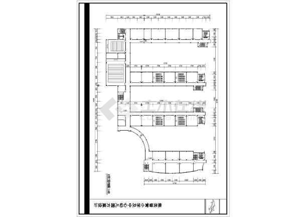 某地小学建筑设计平面图(共6张)-图2