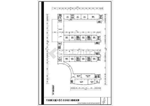 某地小学建筑设计平面图(共6张)-图3