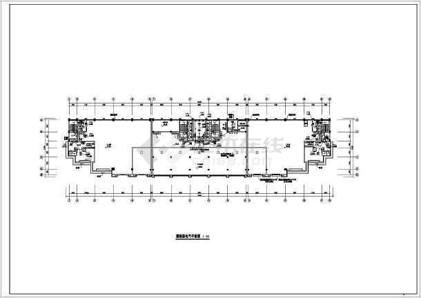 [广东]酒店办公综合体电气全套施工图(含控制系统图)-图1