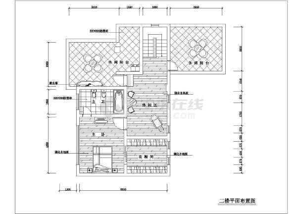 简单精致的别墅装修建筑设计CAD图纸(共9张)-图1