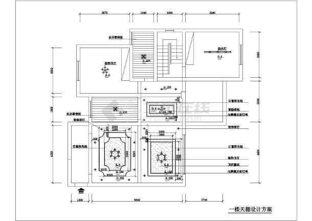 简单精致的别墅装修建筑设计CAD图纸(共9张)-图2