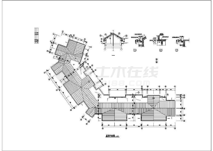 精美花园住宅建筑设计图-图1