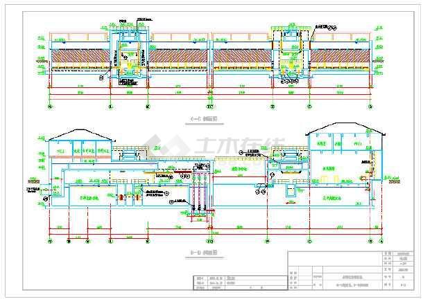 污水厂反硝化滤池设计图纸-图1