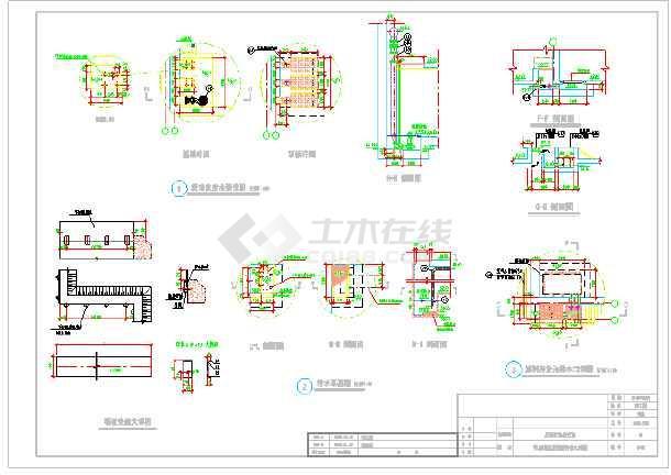 污水厂反硝化滤池设计图纸-图2