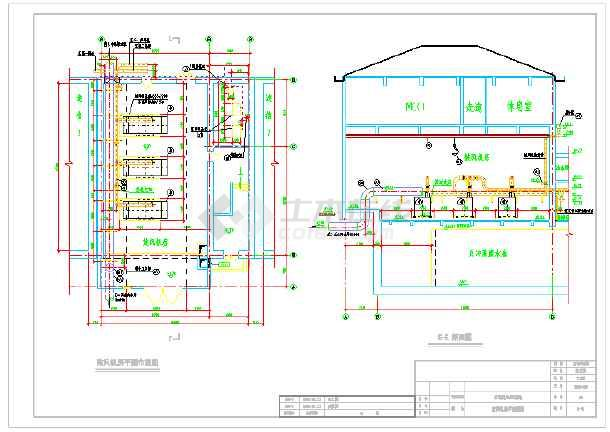 污水厂反硝化滤池设计图纸-图3