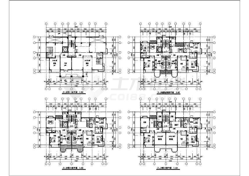 比较受欢迎的一套31个住宅户型建筑cad图纸-图1