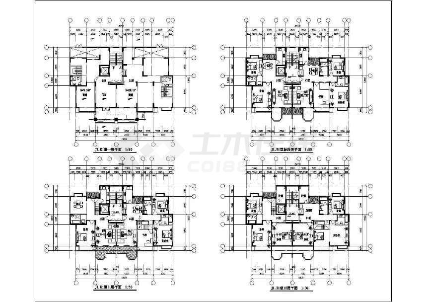比较受欢迎的一套31个住宅户型建筑cad图纸-图2