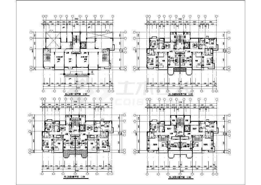 比较受欢迎的一套31个住宅户型建筑cad图纸-图3
