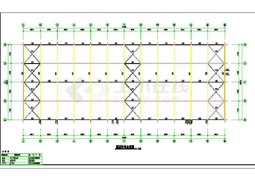 某地仓库及车间钢结构施工图-图1