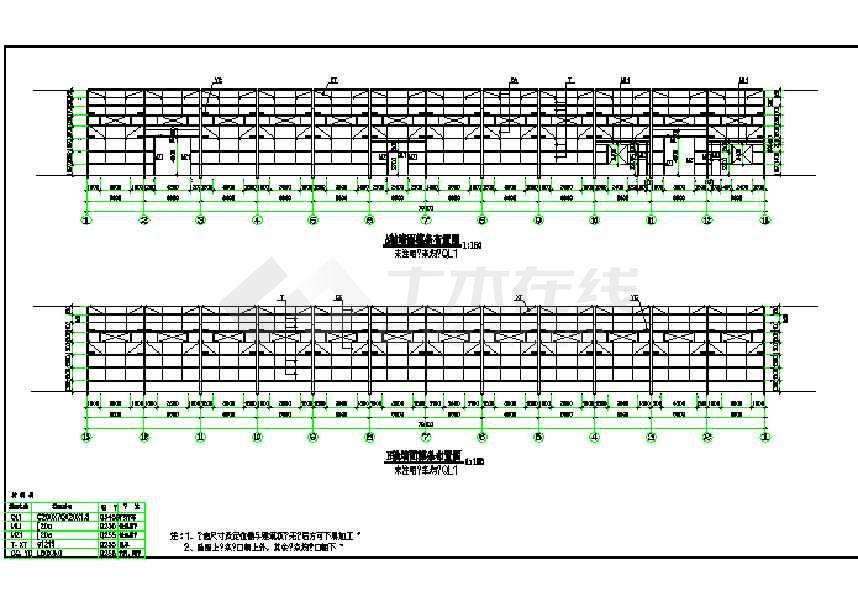 某地仓库及车间钢结构施工图-图3