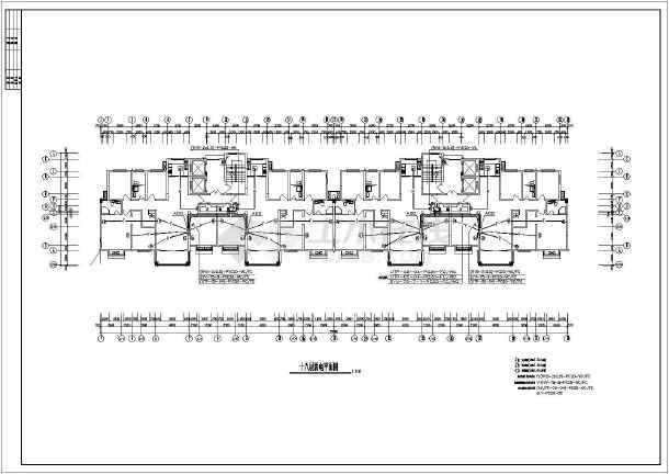 [江苏]人民医院职工公寓楼电气施工图-图3