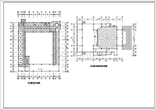 某地艺术楼建筑方案图(共8张)-图1