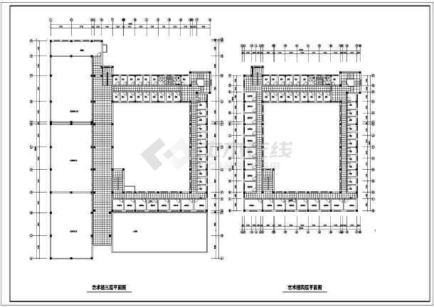 某地艺术楼建筑方案图(共8张)-图2
