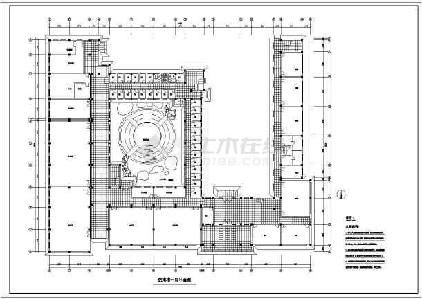 某地艺术楼建筑方案图(共8张)-图3