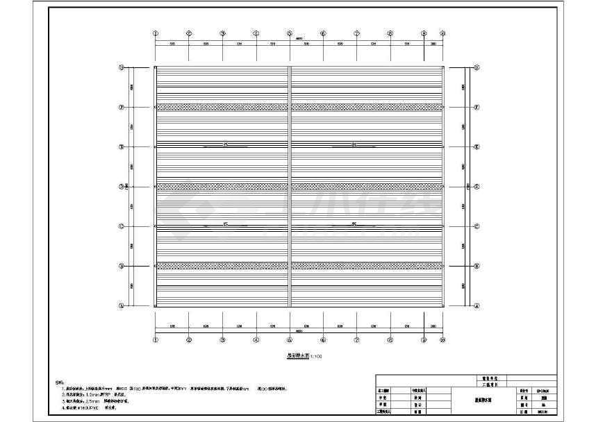 某门式刚架带夹层结构二层厂房建筑结构施工图-图1