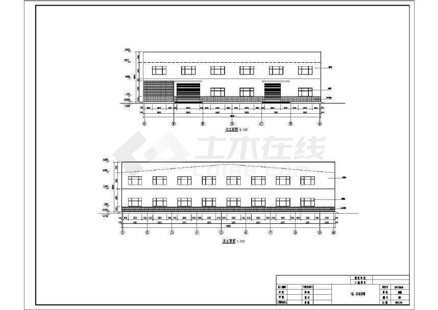 某门式刚架带夹层结构二层厂房建筑结构施工图-图2