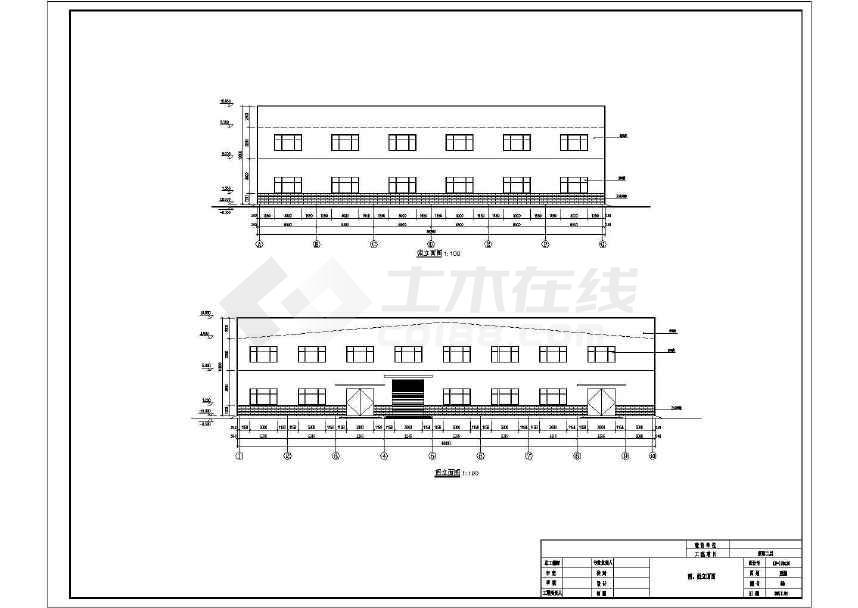 某门式刚架带夹层结构二层厂房建筑结构施工图-图3