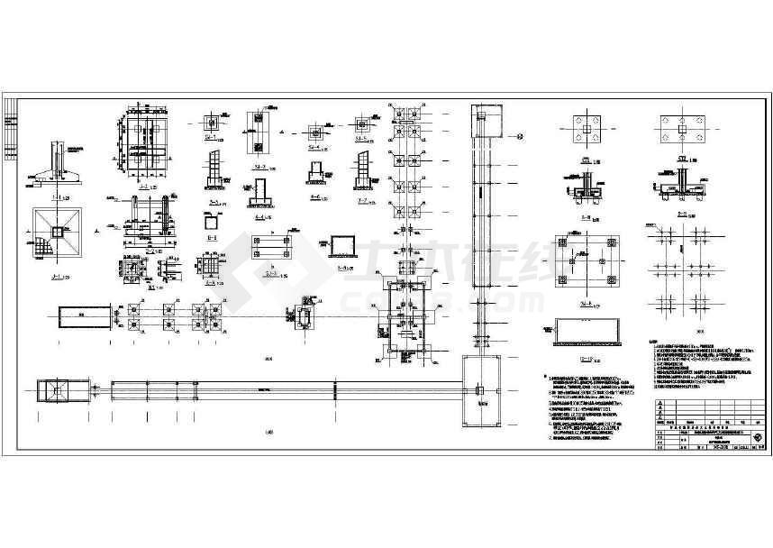 某地输送廊道钢结构施工图纸-图1