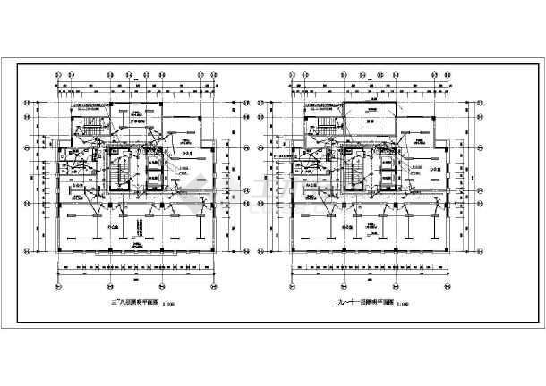 [浙江]写字楼带地下室人防车库电气施工图-图1