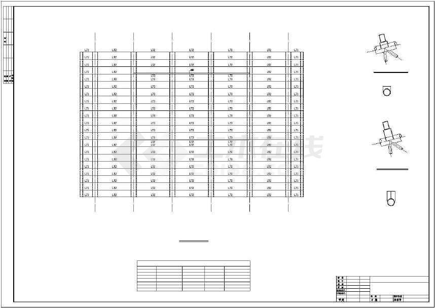 某地干煤棚27m钢桁架施工图-图1