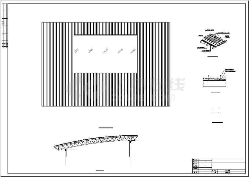 某地干煤棚27m钢桁架施工图-图2