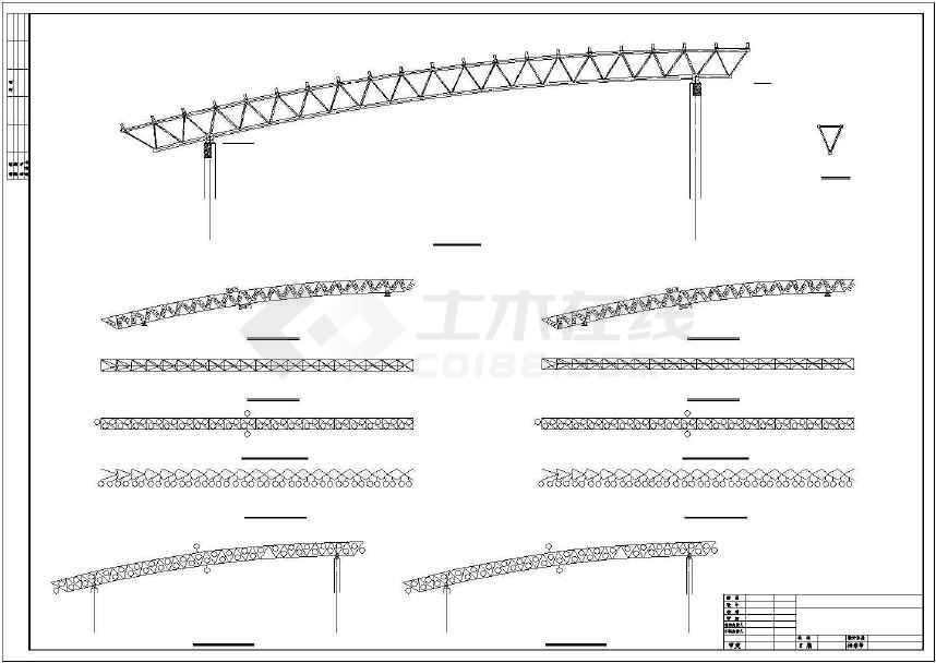 某地干煤棚27m钢桁架施工图-图3