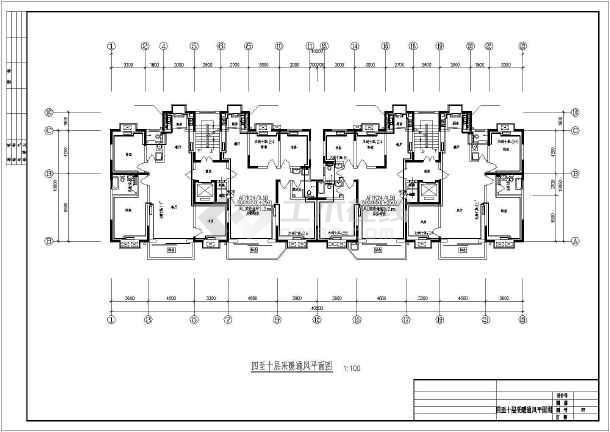 某十一层住宅楼采暖通风图-图3