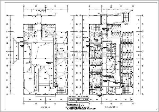 [河南]中医院综合病房楼电气全套施工图-图1