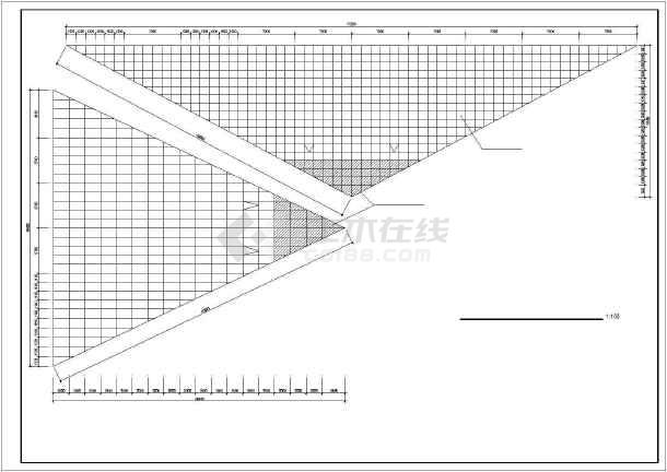 某地海珍品养殖大棚结构cad建筑施工图纸-图3
