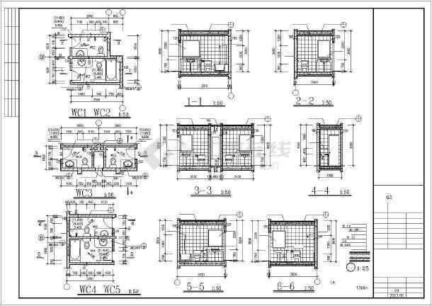 东江明珠花园洋房cad施工设计图纸-图1