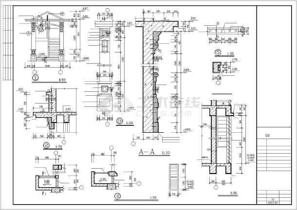 东江明珠花园洋房cad施工设计图纸-图3