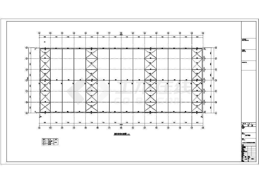 单层双跨实腹式门式刚架结构车间厂房结构施工图-图3