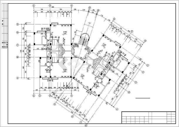 广州某复式公寓建筑扩出cad施工图-图2