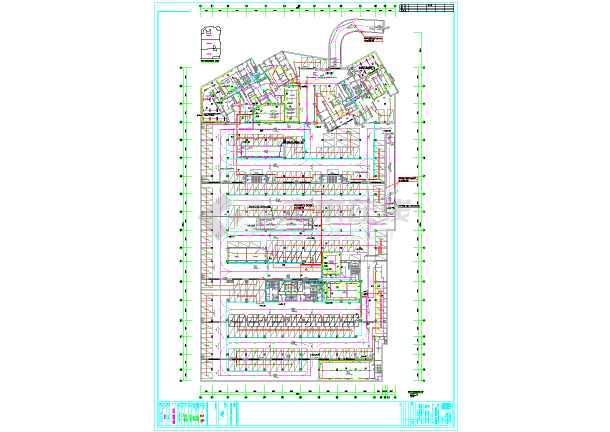 深圳某小区地下车库电气全套设计图纸-图1