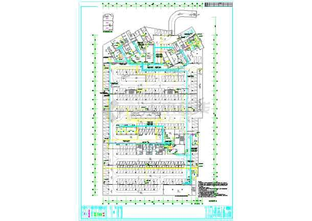 深圳某小区地下车库电气全套设计图纸-图2