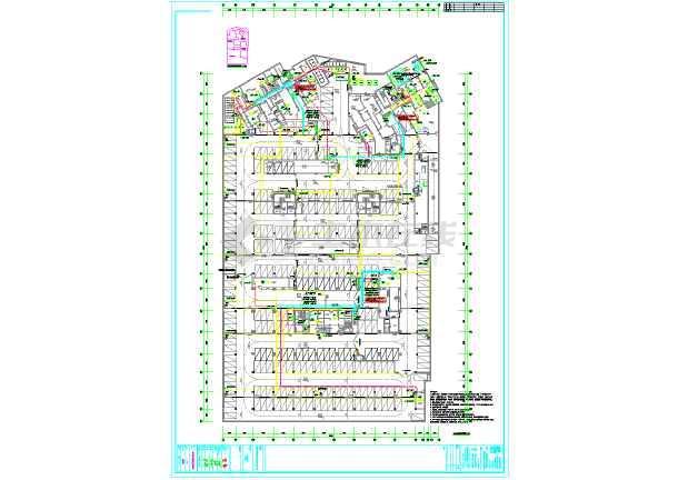 深圳某小区地下车库电气全套设计图纸-图3