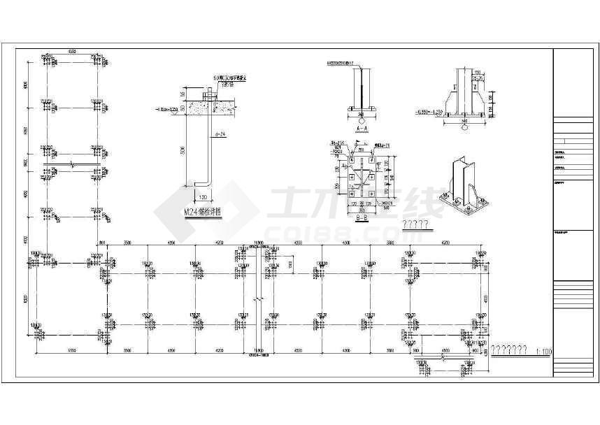 某地钢结构医院连廊设计图-图1