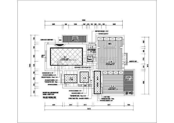 地中海风格二居室装修设计施工图-图2