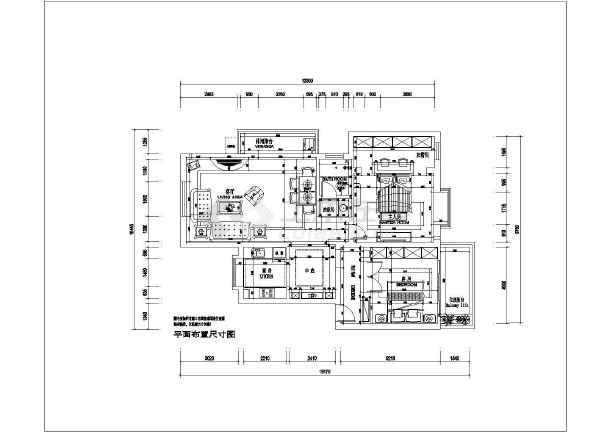 地中海风格二居室装修设计施工图-图3