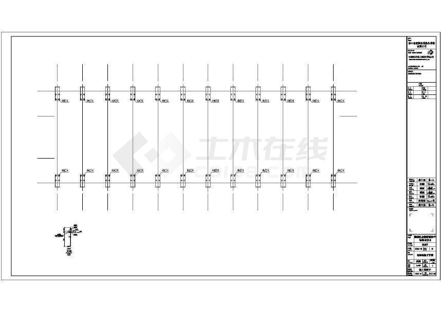 某地单层单跨门钢结构厂房施工图-图3