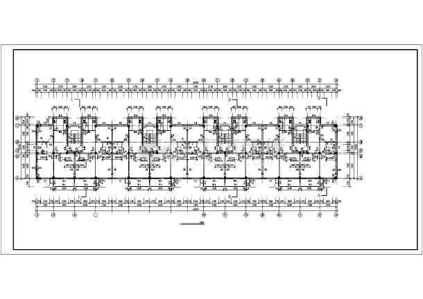 某多层商住一体楼建筑cad施工图纸-图1