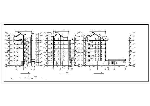 某多层商住一体楼建筑cad施工图纸-图2