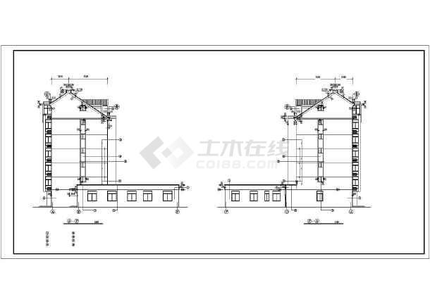 某多层商住一体楼建筑cad施工图纸-图3