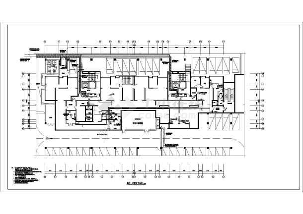 [陕西]高层住宅带人防电气施工图-图1