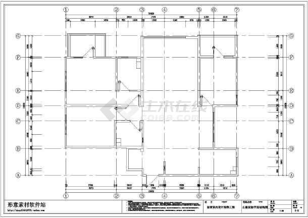 混搭三居室装修设计施工图-图1