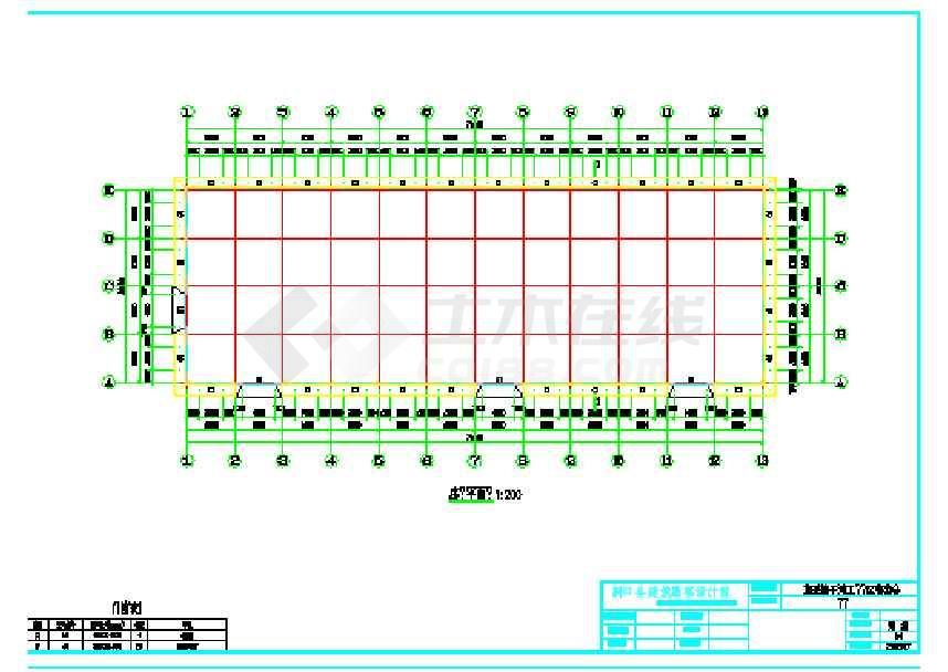 某地工业园车间厂房结构施工图-图1